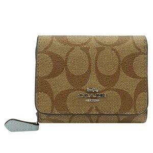 F41302 SMALL TRIFOLD WALLET IN SIGNATURE CANVAS